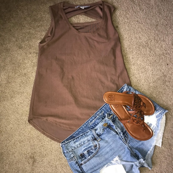 Tops - Suede like sleeveless top